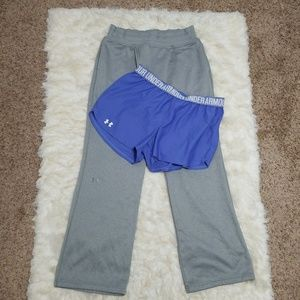 Under Armour Shorts - Sz M Workout Bundle Sweatpants Shorts Under Armour